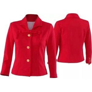 NWT Cabi Style 3035 Beau Scarlett Jacket Size 6